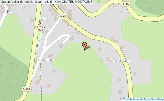 plan association Atelier De Créations Vannerie Fin Xixè ChÂtel-montagne CHÂTEL-MONTAGNE