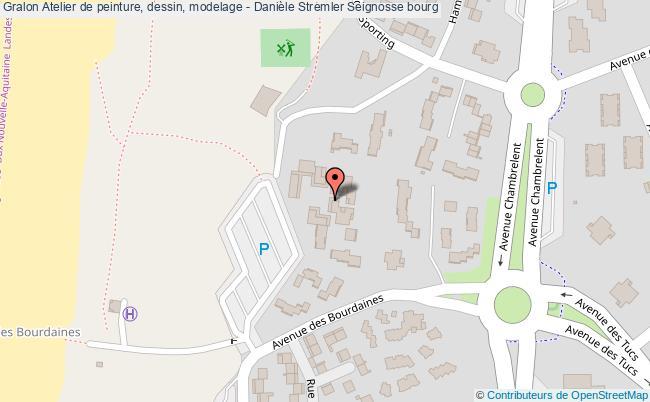 plan Atelier De Peinture, Dessin, Modelage - Danièle Stremler Seignosse Bourg