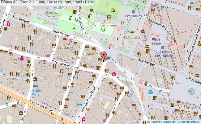 plan association Au Chien Qui Fume, Bar Restaurant, Paris I Paris Paris