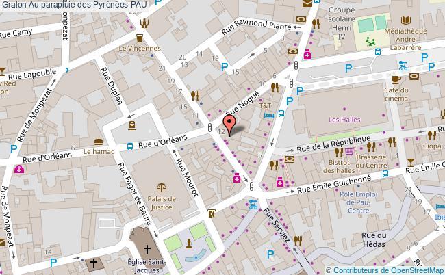 plan Au Parapluie Des Pyrénées Pau