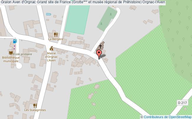 plan Aven D'orgnac Grand Site De France (grotte*** Et Musée Régional De Préhistoire) Orgnac-l'aven