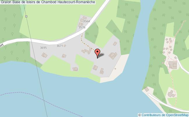 plan association Base De Loisirs De Chambod Hautecourt-romanèche Hautecourt-Romanèche