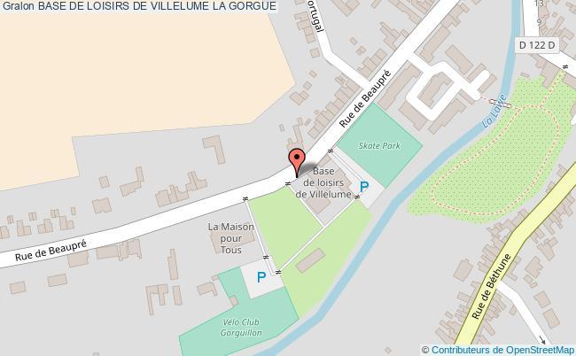 plan Base De Loisirs De Villelume La Gorgue