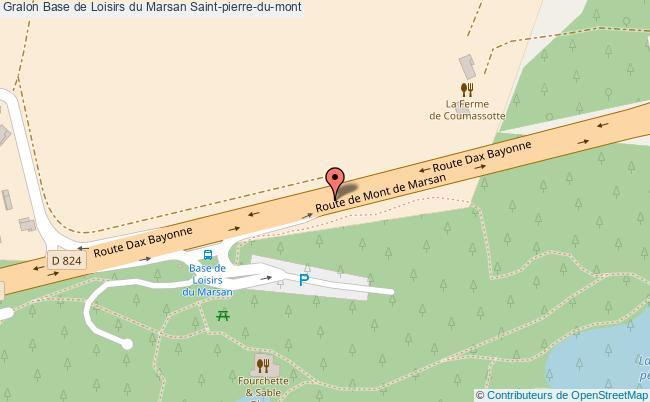 Plan Base De Loisirs Du Marsan Saint Pierre Du Mont