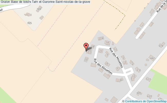 plan Base De Loisirs Tarn Et Garonne Saint-nicolas-de-la-grave