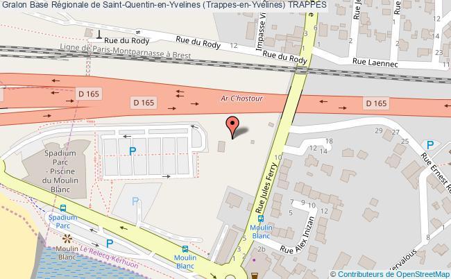 plan Base Régionale De Saint-quentin-en-yvelines (trappes-en-yvelines) Trappes