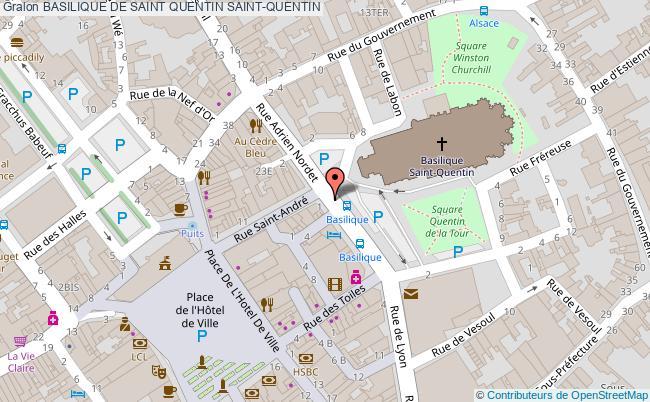 plan Basilique De Saint Quentin Saint-quentin