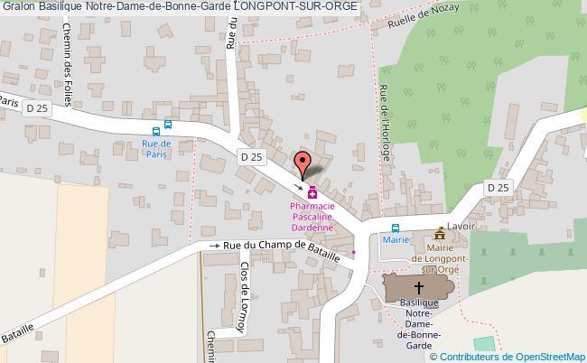 plan association Basilique Notre-dame-de-bonne-garde Longpont-sur-orge LONGPONT-SUR-ORGE