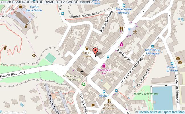 plan Basilique Notre-dame De La Garde Marseille