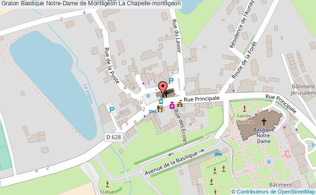 plan association Basilique Notre-dame De Montligeon La Chapelle-montligeon La Chapelle-montligeon