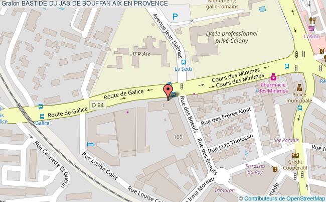 plan Bastide Du Jas De Bouffan Aix En Provence