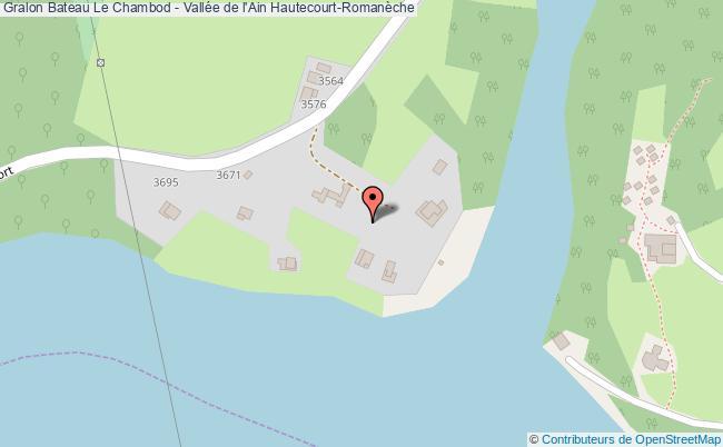 plan Bateau Le Chambod - Vallée De L'ain Hautecourt-romanèche