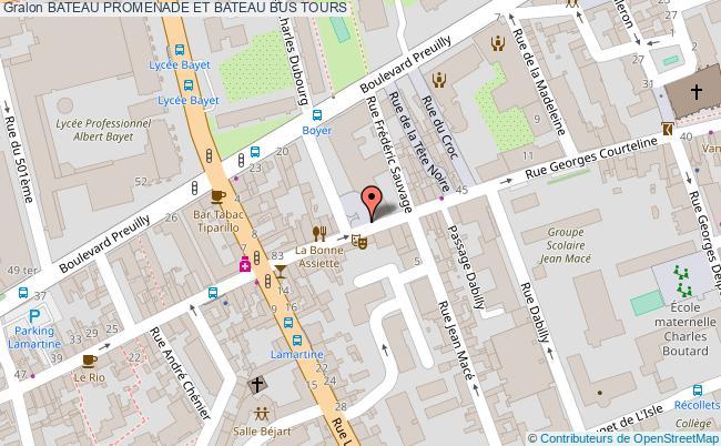 plan Bateau Promenade Et Bateau Bus Tours