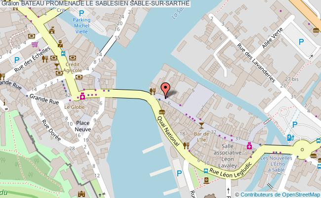 plan Bateau Promenade Le Sablesien Sable-sur-sarthe
