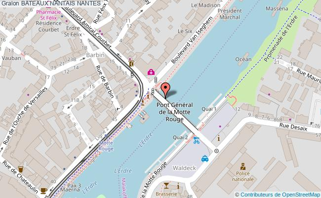 plan Bateaux Nantais Nantes
