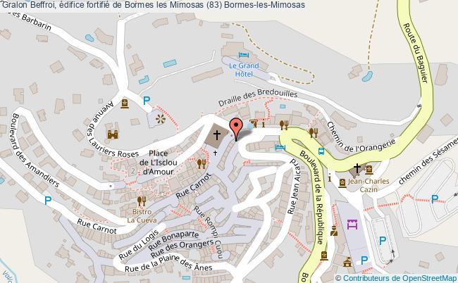 plan Beffroi, édifice Fortifié De Bormes Les Mimosas (83) Bormes-les-mimosas