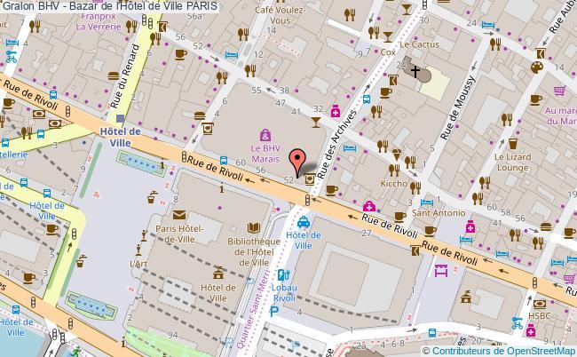 plan Bhv - Bazar De L'hôtel De Ville Paris