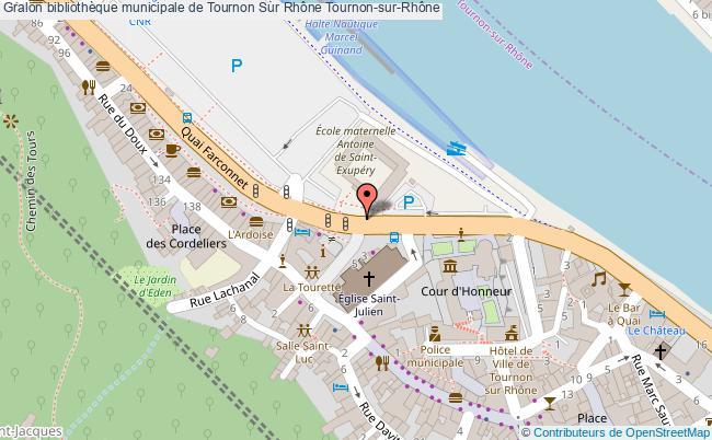 plan Bibliothèque Municipale De Tournon Sur Rhône Tournon-sur-rhône