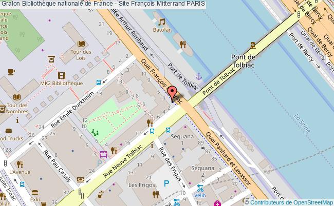 plan Bibliothèque Nationale De France - Site François Mitterrand Paris