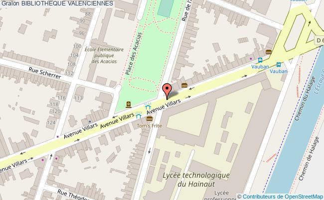 plan association Bibliotheque Valenciennes VALENCIENNES