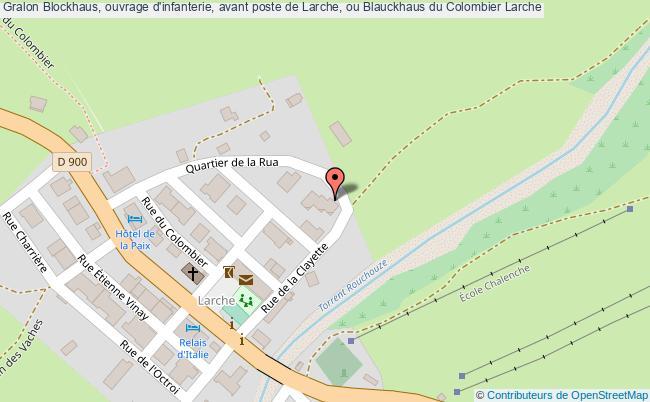 plan Blockhaus, Ouvrage D'infanterie, Avant Poste De Larche, Ou Blauckhaus Du Colombier Larche
