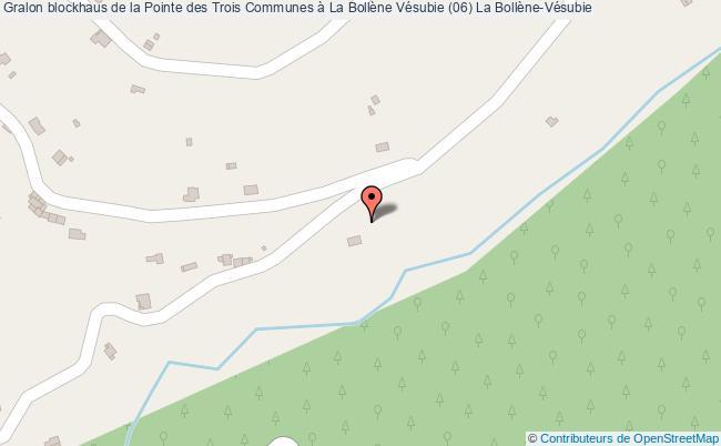 plan Blockhaus De La Pointe Des Trois Communes à La Bollène Vésubie (06) La Bollène-vésubie