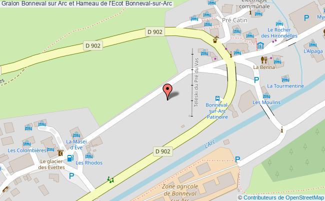 plan association Bonneval Sur Arc Et Hameau De L'ecot Bonneval-sur-arc Bonneval-sur-Arc
