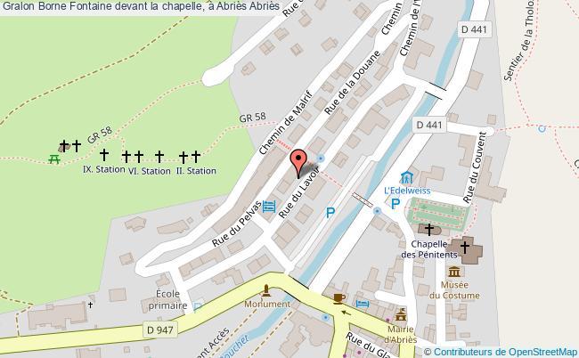 plan Borne Fontaine Devant La Chapelle, à Abriès Abriès