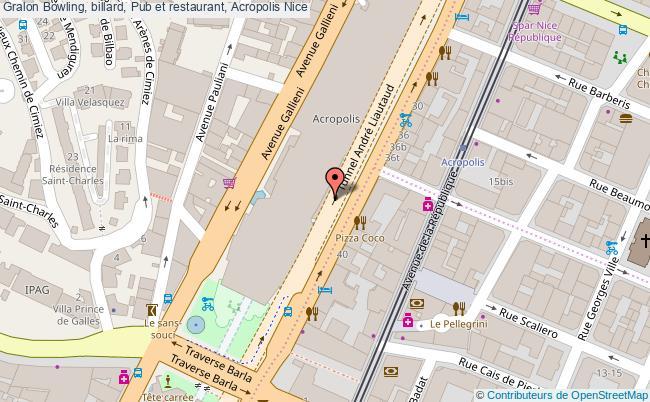plan Bowling, Billard, Pub Et Restaurant, Acropolis Nice