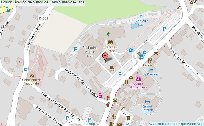 plan Bowling De Villard De Lans Villard-de-lans