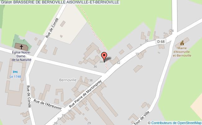 plan Brasserie De Bernoville Aisonville-et-bernoville