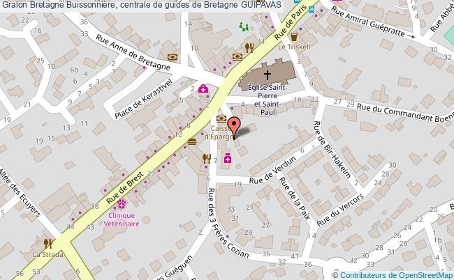 plan Bretagne Buissonnière, Centrale De Guides De Bretagne Guipavas