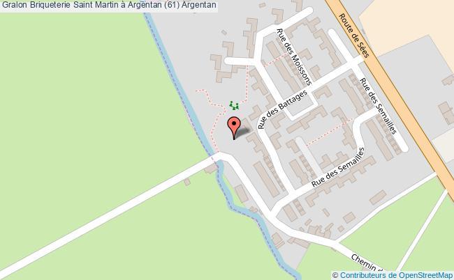plan association Briqueterie Saint Martin à Argentan (61) Argentan Argentan