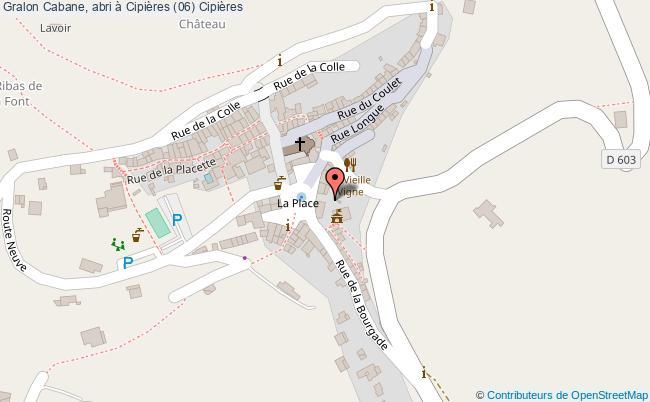 plan Cabane, Abri à Cipières (06) Cipières