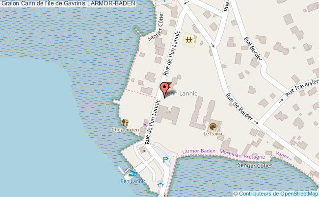 plan association Cairn De L'île De Gavrinis Larmor-baden LARMOR-BADEN