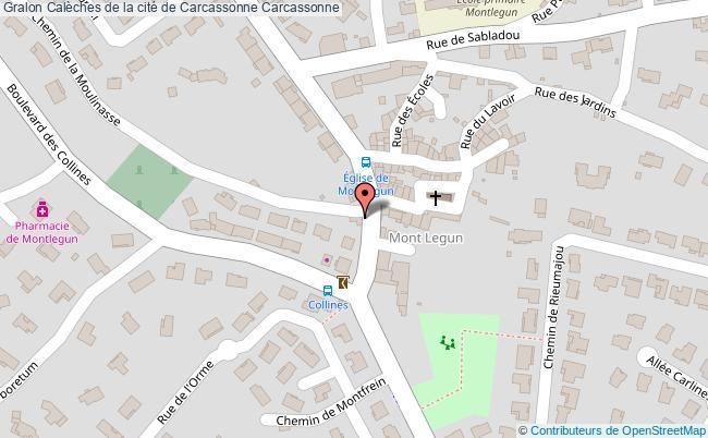 plan Calèches De La Cité De Carcassonne Carcassonne