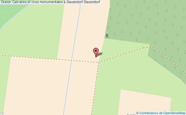 plan Calvaires Et Croix Monumentales à Dauendorf Dauendorf