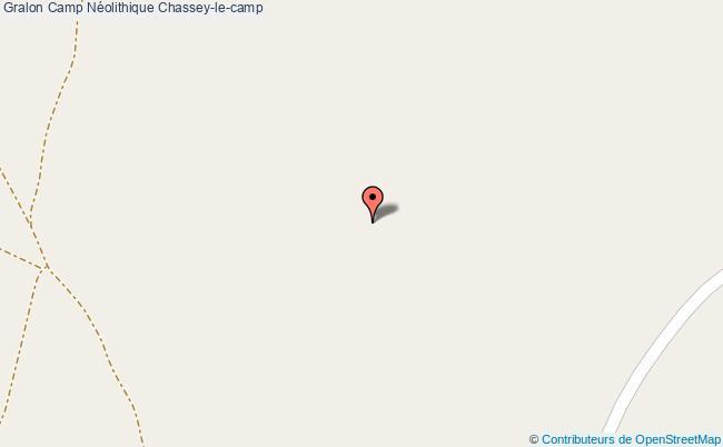 plan Camp Néolithique Chassey-le-camp