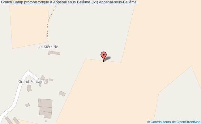 plan association Camp Protohistorique à Appenai Sous Bellême (61) Appenai-sous-bellême Appenai-sous-Bellême