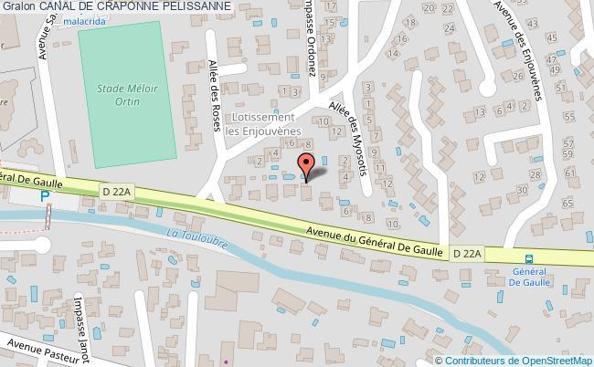 plan Canal De Craponne Pelissanne