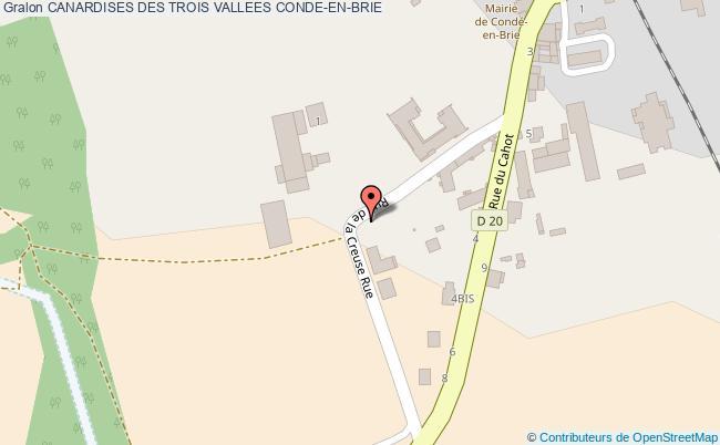 plan Canardises Des Trois Vallees Conde-en-brie