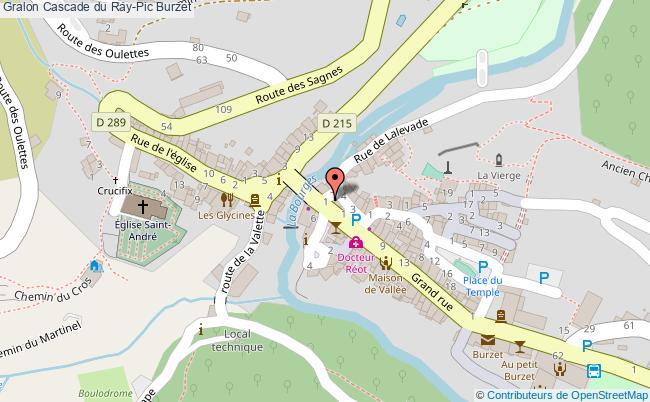 plan Cascade Du Ray-pic Burzet