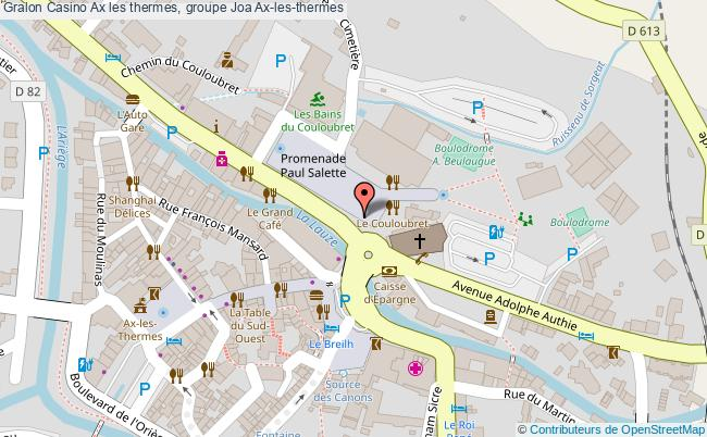 plan Casino Ax Les Thermes, Groupe Joa Ax-les-thermes