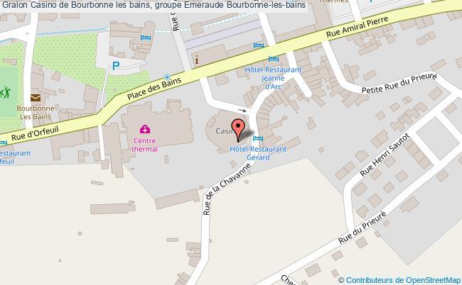 plan Casino De Bourbonne Les Bains, Groupe Emeraude Bourbonne-les-bains