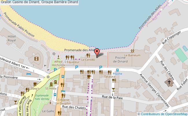 plan association Casino De Dinard, Groupe Barrière Dinard Dinard