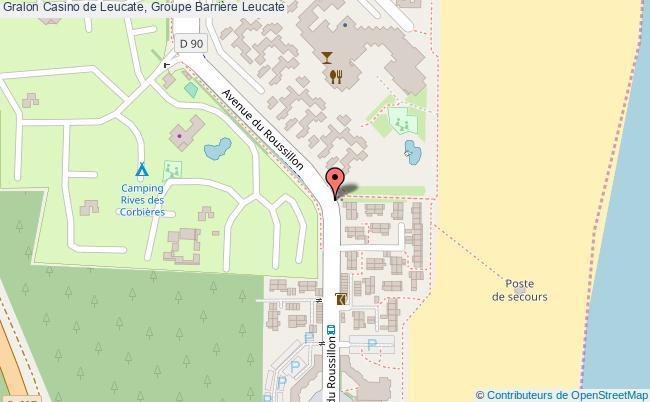 plan Casino De Leucate, Groupe Barrière Leucate