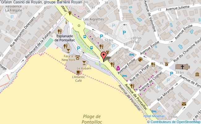 plan Casino De Royan, Groupe Barrière Royan