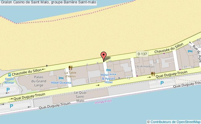 plan association Casino De Saint Malo, Groupe Barrière Saint-malo Saint-malo