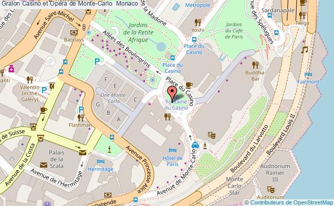 plan Casino Et Opéra De Monte-carlo  Monaco