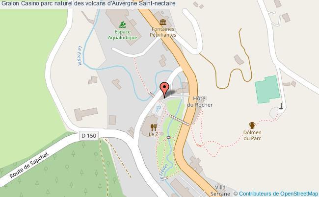 plan association Casino Parc Naturel Des Volcans D'auvergne Saint-nectaire Saint-nectaire